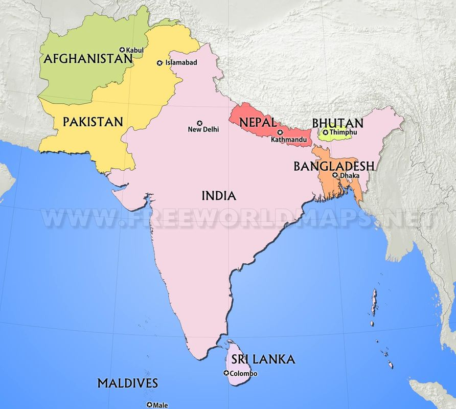 South Asia Map Quiz Regions for Map Quiz on Tuesday, Sept. 5   MRS. MCGREW'S CLASS